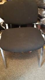 2 Chairs black and chrome. Used ut good cond.