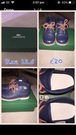 Genuine boys Lacoste boots. Size 12.5