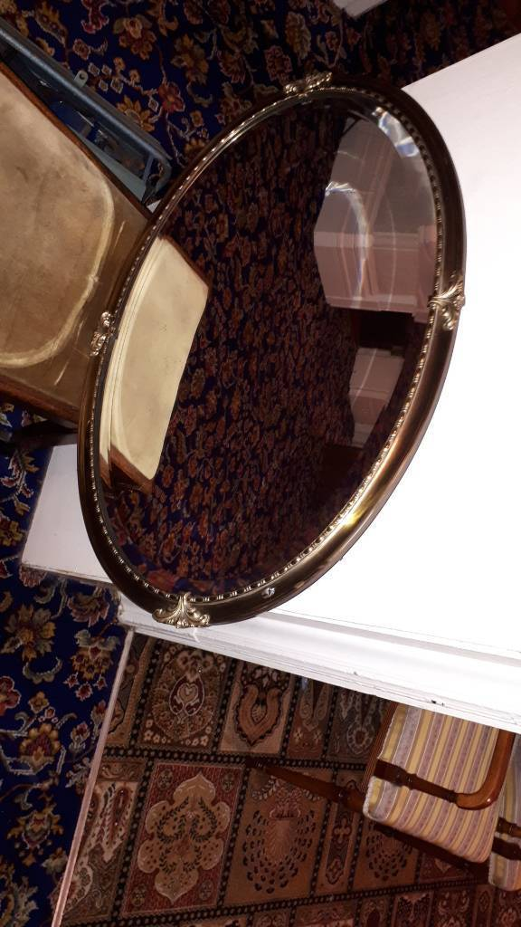 heavy gilt edged mirror
