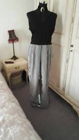 2jumpsuits,1holterneck and shawl