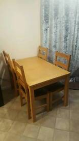 Table and chairs swap