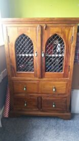 Indian rosewood tv cabinet.