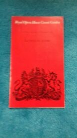 Opera and Ballet Programmes from The Royal Opera House Covent Garden about 60 plus 20 cast lists