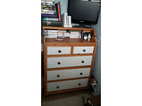 Pine Chest of Drawers/baby changer