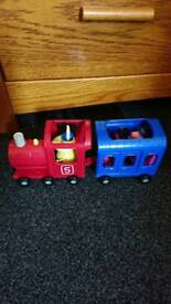 Pepper pig miss rabbits train and carriage As New