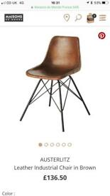 4 Maisons du Monde: industrial steel, Eiffel style, leather chairs