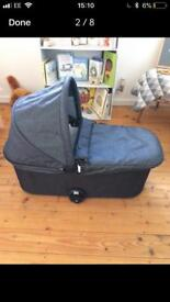 Baby Jogger Deluxe Carrycot Charcoal Denim