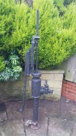 Old cast water pump .