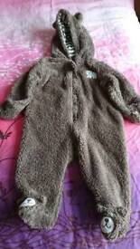 Carters bear outfit pram suit 6 months