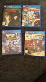 4 No PS4 Games brand new condition