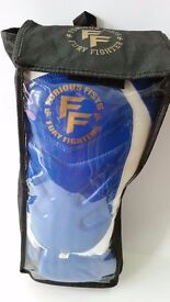 Furiousfistuk Synthetic Leather Sparring Gloves 14oz Blue color