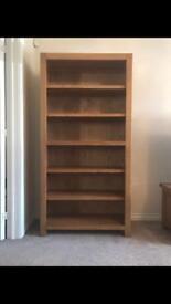 Oak TV Unit and 6ft Bookcase