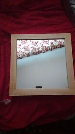 John Lewis solid thick wood mirror