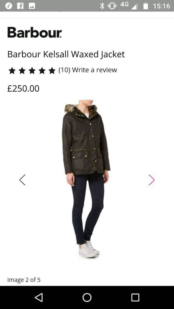 Barbour jacket ladies size 14