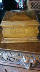 Antique oak box from late relatives £10