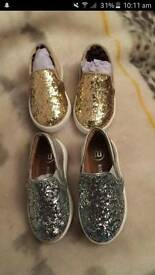 Baby girl size 3 river island shoes
