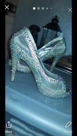 Tiffany designer prom dress and shoes