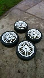 "5x120 18"" rs4 style alloy wheels with tyres"
