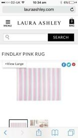 Laura Ashley girls pink rug