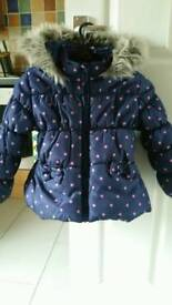 Girls winter coats age 2 to 3yr