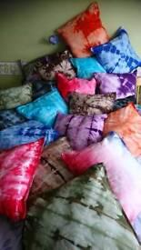 Tie dye cushions