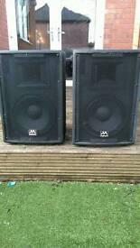 Audio max 10 250 watt speakers