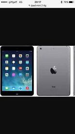 iPad mini 2 4g unlocked 16gb in Silver