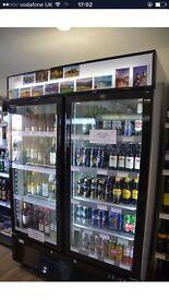 Commercial catering drink fridge cooler display