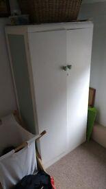 Wooden painted nursery/childs wardrobe/cupboard