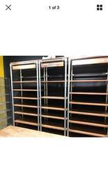 Industrial chic designer shelves