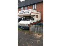 1988 peugot german built camper . 4-5 berth large overcab sleeping/storage lefthand drive