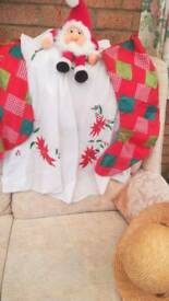 "Christmas table cloth square 40"""