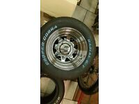 BRAND NEW 'CRAGAR', VW FITTING RIMS WITH BRAND NEW, 175X50X15 TYRES x 2