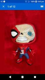 Spiderman custom funko pop vinyl in pop stack