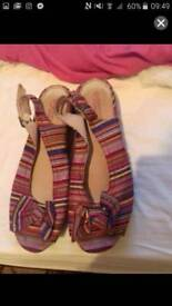 Shoes size 7 and small bag