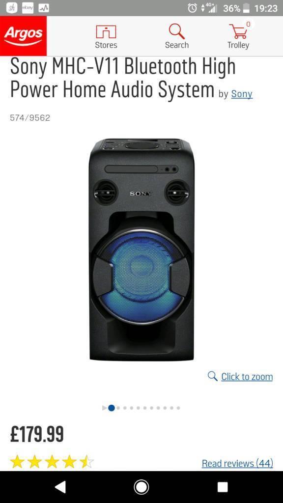 Sony MHC-V11 Bluetooth High Power Home Audio System