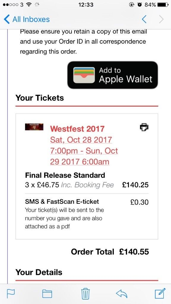 3 last release west fest tickets