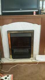 Working electric fireplace