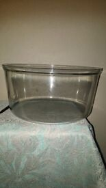 halagen 12 litre glass bowl andrew james new
