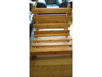 Single (3 foot) pine futon frame. Very good condition. No mattress