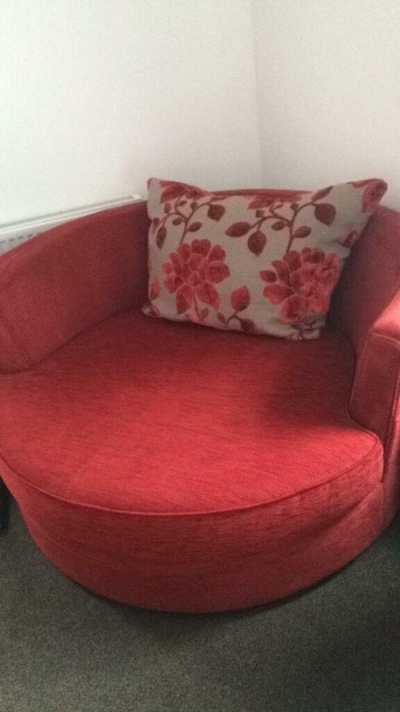 Big Chair/sofa and swiffle round.