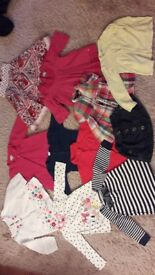Girl bundle of clothes 12-18 months