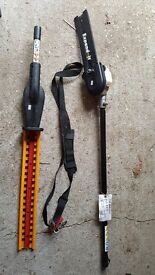 Ryobi expand-It hedge trimmer & chain saw with other expand-It parts