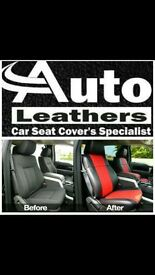 MINICAB CAR LEATHER SEAT COVERS TOYOTA PRIUS PLUS SEAT ALHAMBARA VOLKSWAGEN SHARAN FORD GALAXY