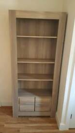 Light Oak effect shelving unit