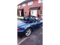 Blue BMW Z3 Convertible