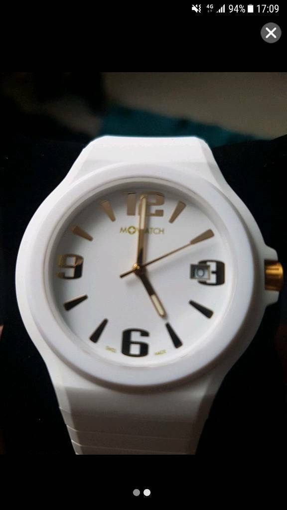 M watch ladies white bnib new