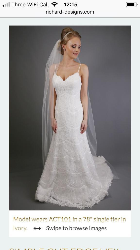 Full length sheer veil (with comb)