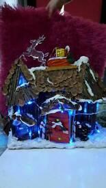 Santa house Xmas Light/ decoration