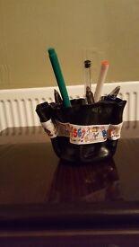 Teachers gifts hand crafted pen/pencil pot